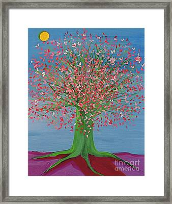 Spring Fantasy Tree By Jrr Framed Print