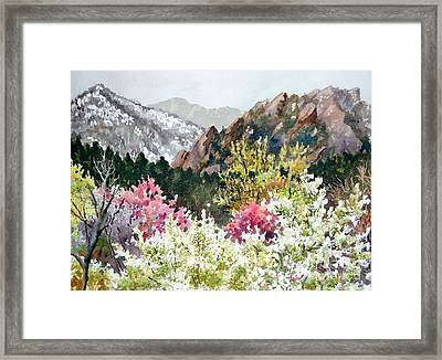 Spring Flatirons Framed Print by Anne Gifford
