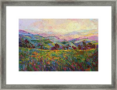 Framed Print featuring the painting Spring Fling by Erin Hanson
