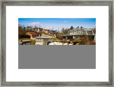 Spring Flood At Hydro Falls On Muskoka Framed Print by Panoramic Images