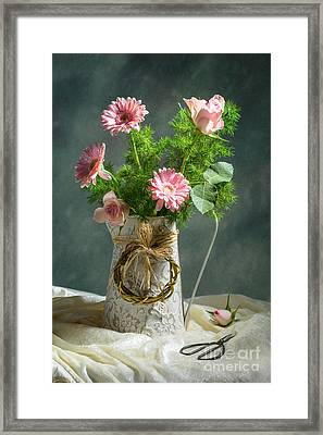 Spring Floral Bouquet Framed Print by Amanda Elwell