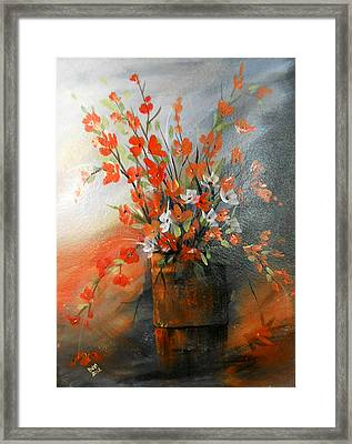 Framed Print featuring the painting Spring Flower Bouquet by Dorothy Maier