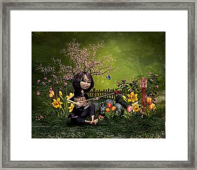 Spring Flowering Garden Framed Print by John Junek