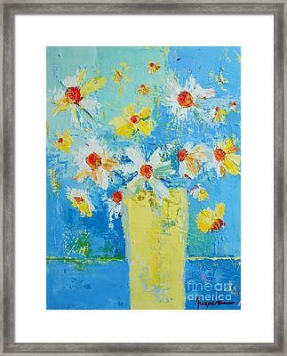 Spring Flowers Daisies Framed Print