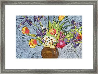 Spring Flowers Framed Print by Frances Treanor