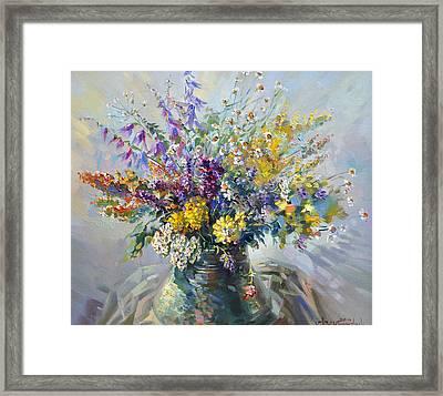 Spring Flowers Of Armenia Framed Print by Meruzhan Khachatryan