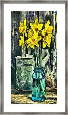Spring Flowers Phone Case Framed Print by Edward Fielding
