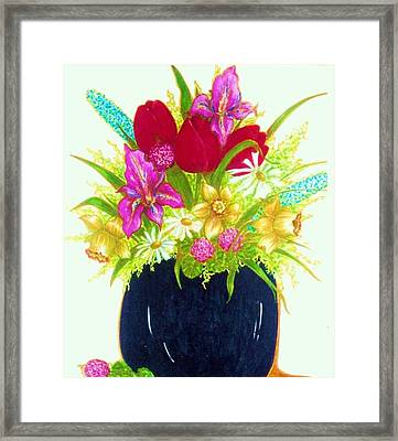 Spring Flowers Framed Print by Rae Chichilnitsky