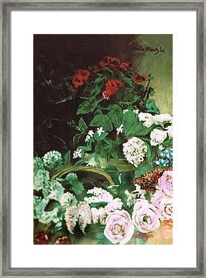 Spring Flowers Study Of Monet Framed Print