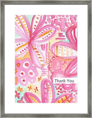 Spring Flowers Thank You Card Framed Print by Linda Woods