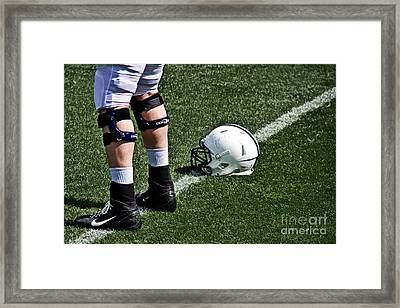 Spring Football Framed Print