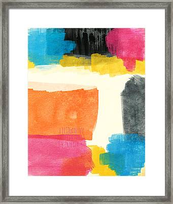 Spring Forward- Colorful Abstract Painting Framed Print by Linda Woods