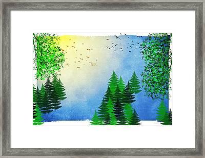 Spring Four Seasons Framed Print by Christina Rollo