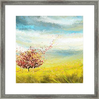 Spring-four Seasons Paintings Framed Print by Lourry Legarde