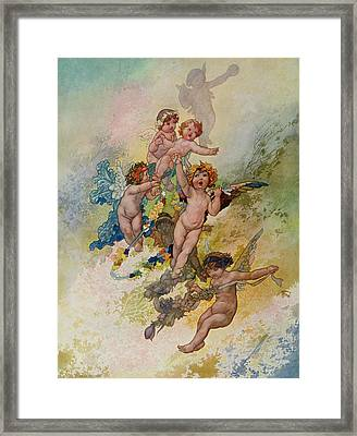 Spring From The Seasons Commissioned For The 1920 Pears Annual Framed Print