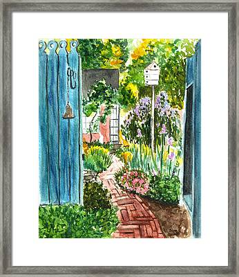 Framed Print featuring the painting Spring Garden by Clara Sue Beym