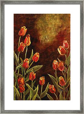 Framed Print featuring the painting Spring Garden II by Vic  Mastis