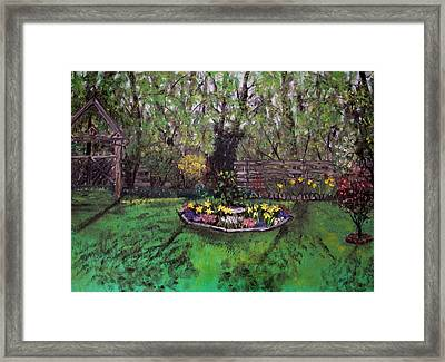 Framed Print featuring the painting Spring Garden by Judy Via-Wolff