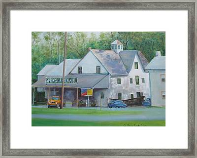 Spring Garden Mill Playhouse Framed Print by Oz Freedgood
