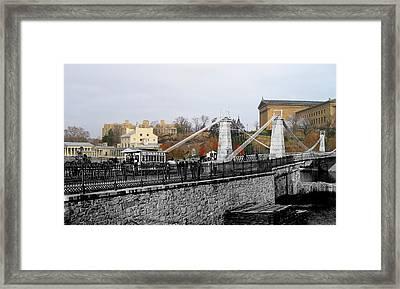 Spring Garden Street Bridge 1876 Framed Print