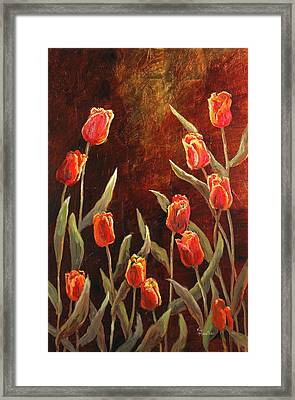 Framed Print featuring the painting Spring Garden by Vic  Mastis