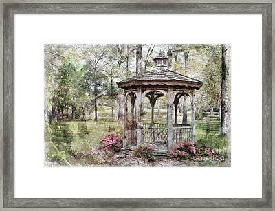 Spring Gazebo Painteffect Framed Print by Debbie Portwood