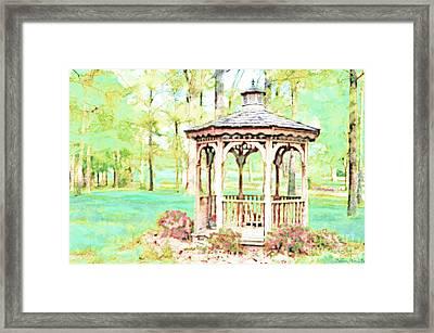 Spring Gazebo Series - Digital Paint II Framed Print
