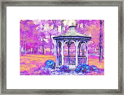 Spring Gazebo Series - Digital Paint V Framed Print
