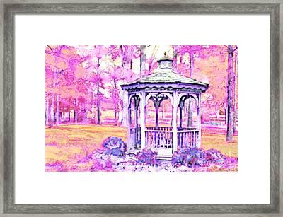 Spring Gazebo Series - Digital Paint  Vi Framed Print