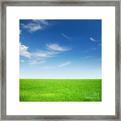 Spring Green Landscape Framed Print by Boon Mee