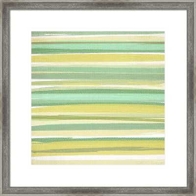Spring Green Framed Print by Lourry Legarde