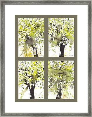 Spring Green Framed Print by Sumiyo Toribe