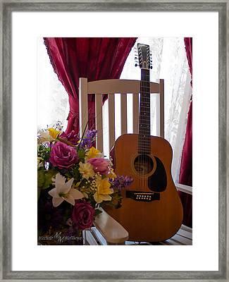 Spring Guitar Framed Print