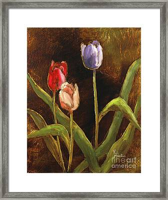 Framed Print featuring the painting Spring Has Sprung by Vic  Mastis