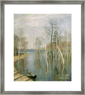 Spring High Water Framed Print by isaak Ilyich Levitan