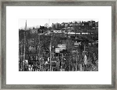 Spring Hill From Troy Hill In Pittsburgh Framed Print by Eric Miller