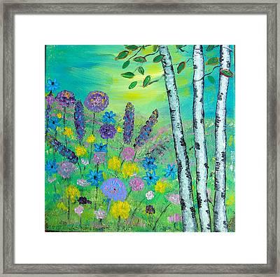 Spring Hillside Framed Print
