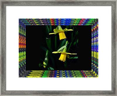 Spring In A Frame Framed Print by Larry Bishop