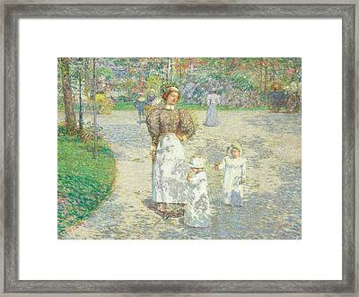 Spring In Central Park Framed Print by Childe Hassam