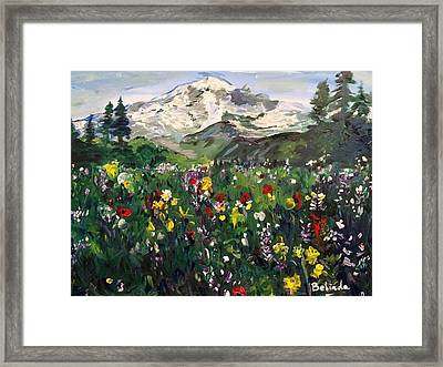 Spring In My Heart Framed Print by Belinda Low