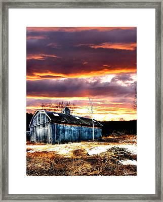 Spring In New England Framed Print by Fred LaPoint