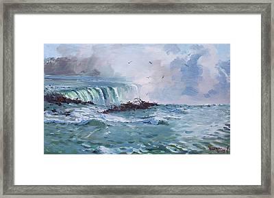 Spring In Niagara Falls Framed Print by Ylli Haruni