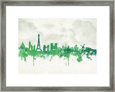 Spring In Paris France Framed Print by Aged Pixel