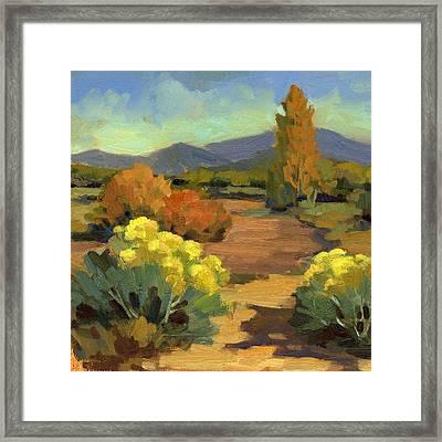 Spring In Santa Fe Framed Print by Diane McClary