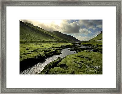 Spring In Scotland Valley Framed Print by Matt Tilghman