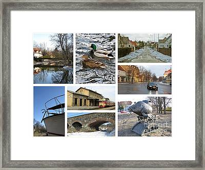 Spring In Silute. Lithuania. Collage 04 Framed Print