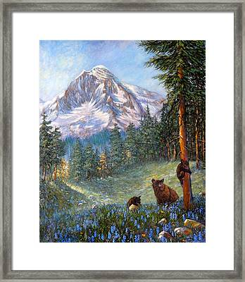 Framed Print featuring the painting Spring In The Cascades by Charles Munn