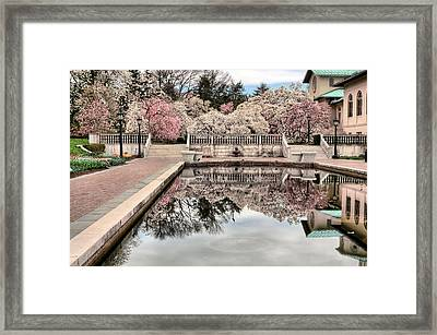 Spring In The Garden Framed Print by JC Findley