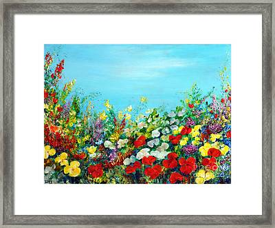 Spring In The Garden Framed Print by Teresa Wegrzyn