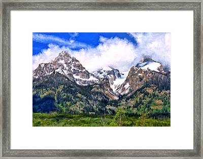 Spring In The Grand Tetons Framed Print by Michael Pickett